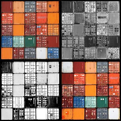 container mosaic