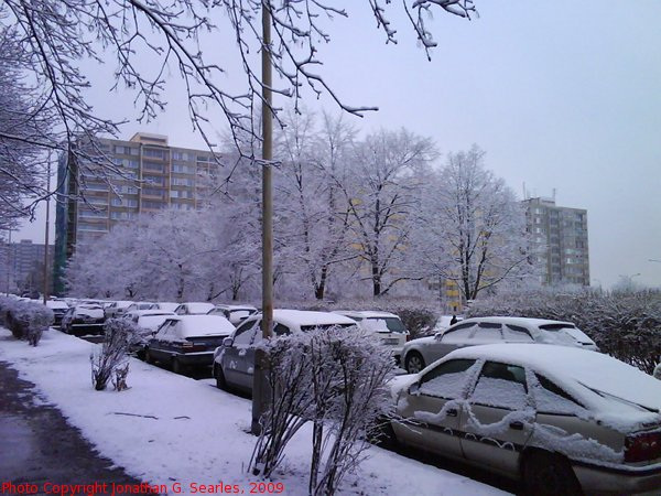 Second Snow in Sidliste Haje, Prague, CZ, 2009