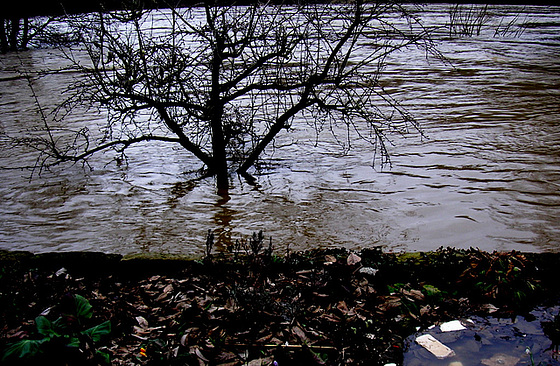 Überschwemmung am 4.4.2006