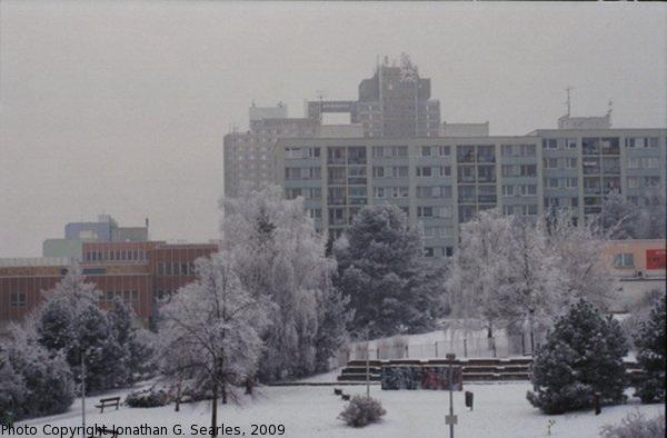 Snow in Sidliste Haje, Picture 10, Prague, CZ, 2009