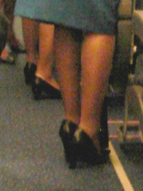 KLM flight attendants in high heels / Hôtesses de l'air  de KLM en talons hauts -  Correction Gamma niveau 3