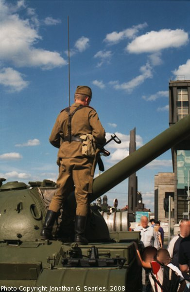 Preserved T-54 Tank, Picture 2, Prague, CZ, 2008