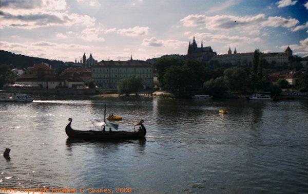 Longboat on the Vltava, Prague, CZ, 2008