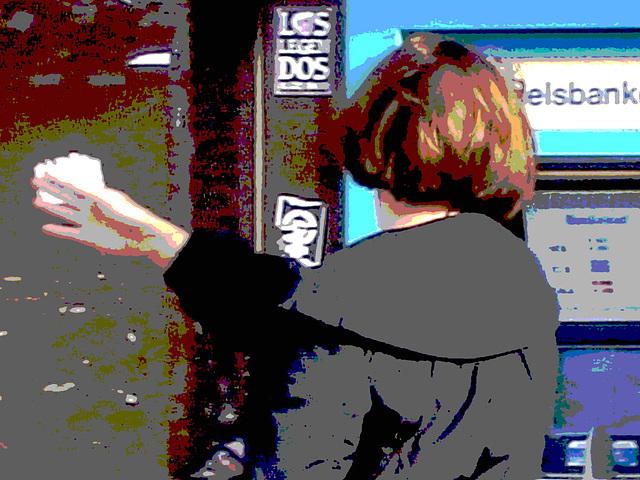Belle rouquine suédoise en version postérisée /  Redhead swedish Lady with a photofiltered treatment /  Ängelholm - Suède - Sweden.  23 octobre 2008