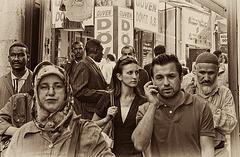 "mixed crowd....all ""homo sepians"""