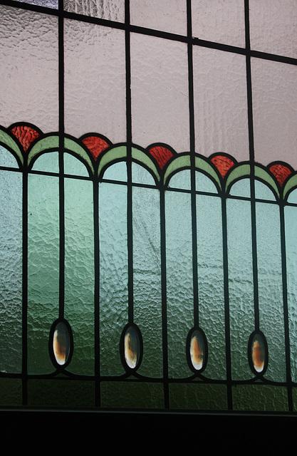 Bleiverglasung im Treppenhaus