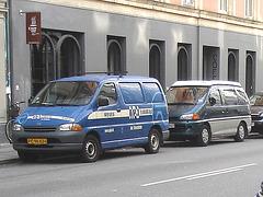 Camion bleu APJ blue truck - Copenhague  / 20 octobre 2008