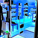 Lèche-vitrines podoérotique / Bagalarm welcoming sexy footwears store -  Ängelholm  /  Suède - Sweden.  23 octobre 2008. - Négatif avec changement de couleurs et couleurs ravivées.