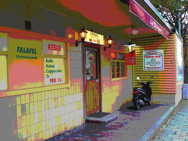 Frikko kebab bar  /  Helsingborg - Suède / Sweden.  22 octobre 2008 - Art postérisé