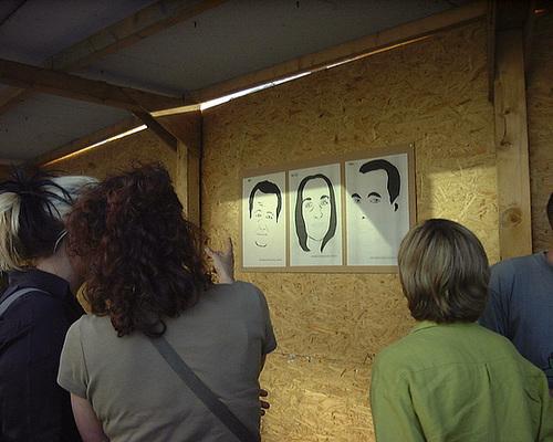 Bildinstallation im Stadtraum von Cornelia Heier. Mai 2002