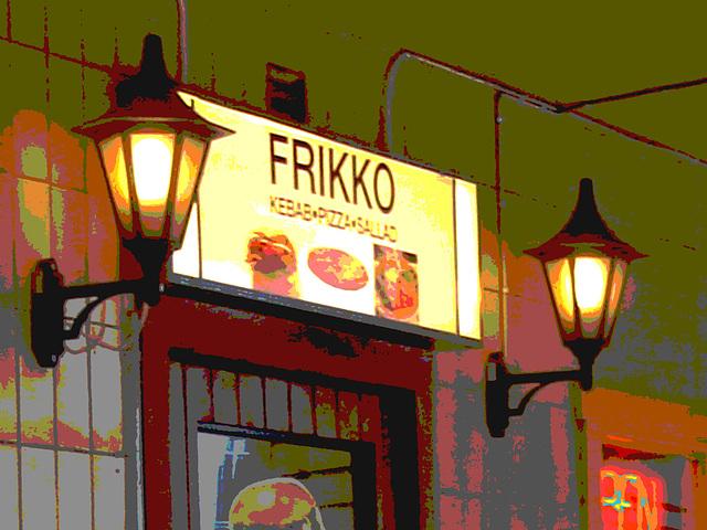 Frikko kebab bar  /  Helsingborg - Suède / Sweden.  22 octobre 2008 - Postérisée