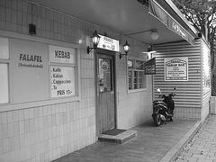 Frikko kebab bar  /  Helsingborg - Suède / Sweden.  22 octobre 2008 - N & B
