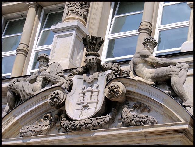 Entree of Strafjustizgebäude des Amts- und Landgerichts Hamburg