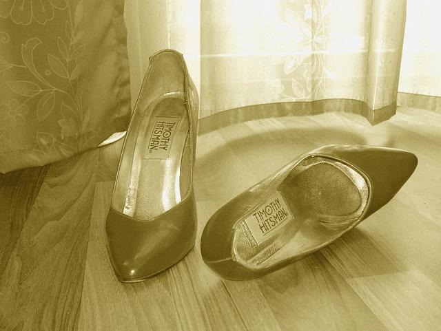 Elsa's friend high heels shoes with permission -  Les talons hauts de l'amie de Elsa avec permission -  Janvier / January 2009 - Sepia