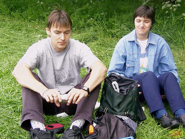 2003-05-17 02 Domholzschänke, Jörg kaj Petra