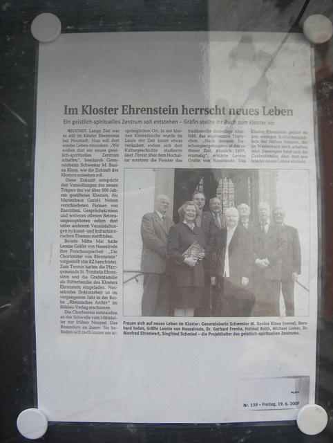 Ehrenstein – gazetartikolo