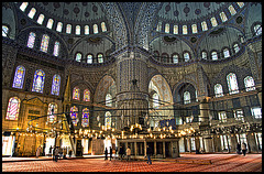 Blue mosque.....inside