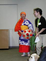 La kostumo de danco-Hanagasa Ondo