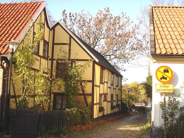 La zone Gäller genomfart /   Gäller genomfart area.   Laholm / Suède - Sweden.  25 octobre 2008