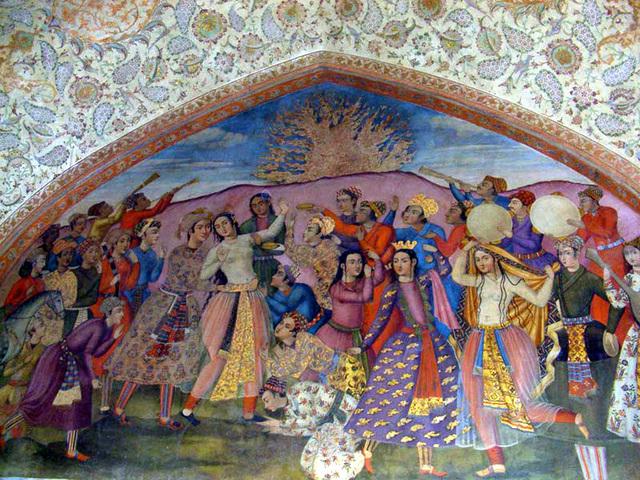 Fête à Chehel Sotoun, Iran