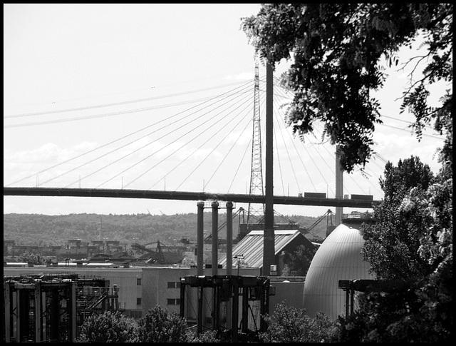 Faultürme und Köhlbrandbrücke