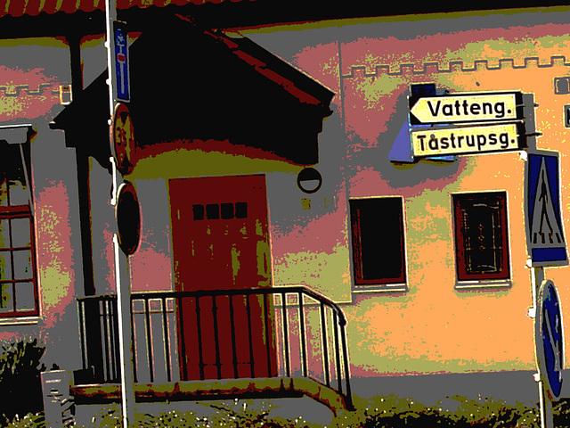 Vatteng biker area -  Zone Vatteng pour jolie cycliste / Ängelholm en Suède / Sweden.  23 octobre 2008-  Postérisée avec photofiltre