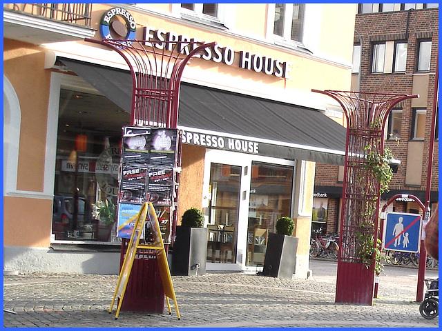 Zone de la maison Expresso /  Expresso house corner - Ängelholm en Suède  / Sweden .  23 octobre 2008