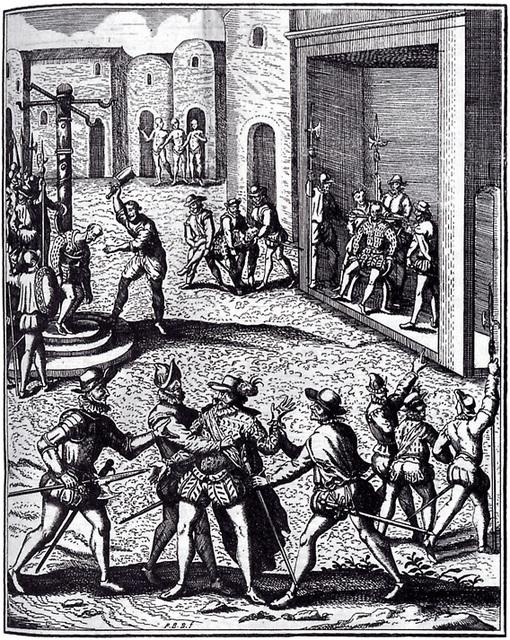 Exécution de Diego de Almagro, Cuzco