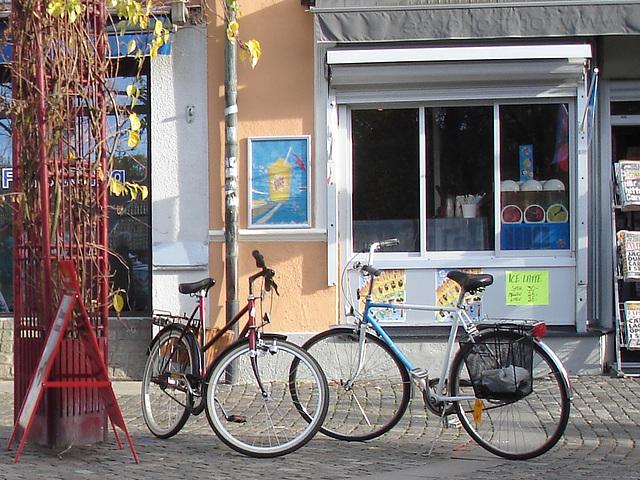 Regard sur vélos suédois / Handlesbanken Swedish Bikes eyesight  /  Ängelholm en Suède - Sweden .  23 octobre 2008