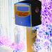 Boîte publique pour dépôt postal -  Postal street box - Båstad .  Suède - Sweden. 25-10-2008 -  Effet de négatif + couleurs ravivées