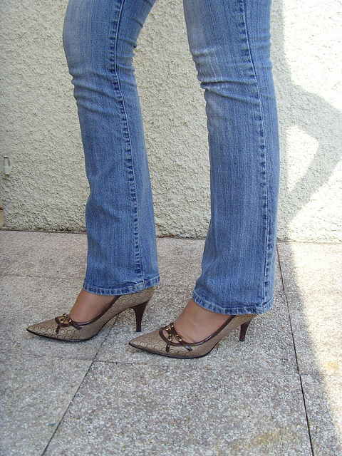 Jeans et escarpins de luxe /  Luxurious pumps and close-fitting jeans -  Cadeau d'une Amie photographe complice Ipernity !