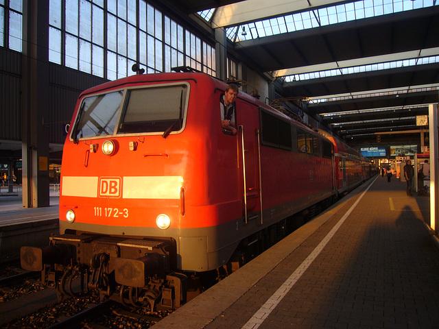 Regio-Lokomotive am Münchner Bahnhof