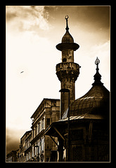 the minaret........