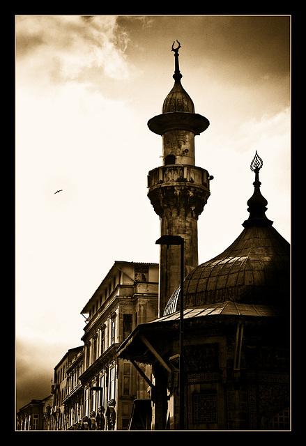 the minaret........
