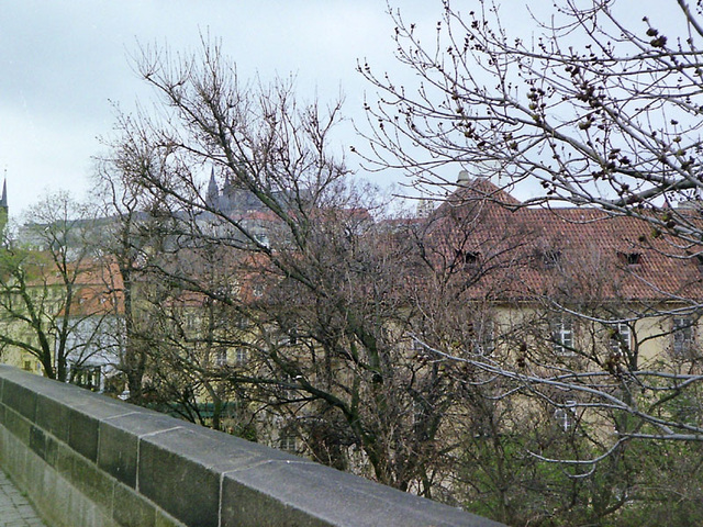 Prag Blick auf Burg