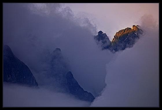 last sun on summit........