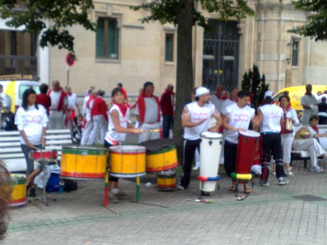 Percusión en el paseo.