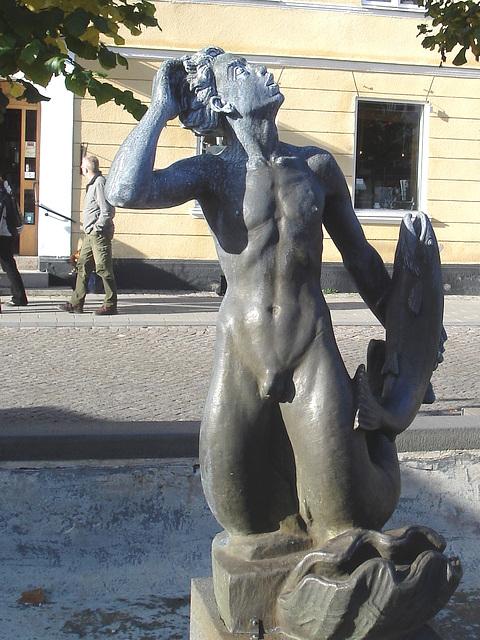 Sculpture érotique / Erotic sculpture -  Laholm / Sweden - Suède.  25 octobre 2008