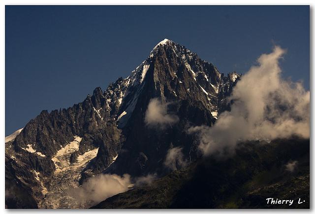 L'Aiguille du Midi et les Drus