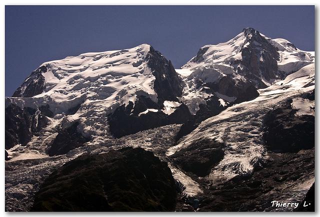 Le Mont Blanc du Tacul et le Mont Maudit
