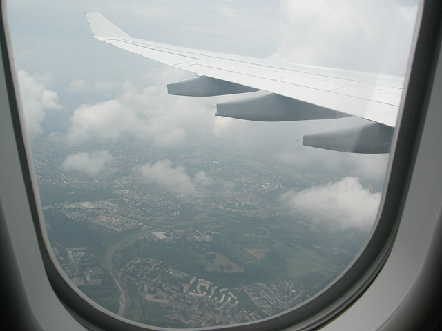 Wolken über FRA