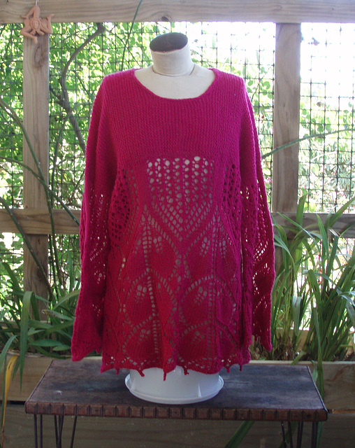 Roseleaves tunic hot pink