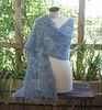 blue alpaca shawl for Kay