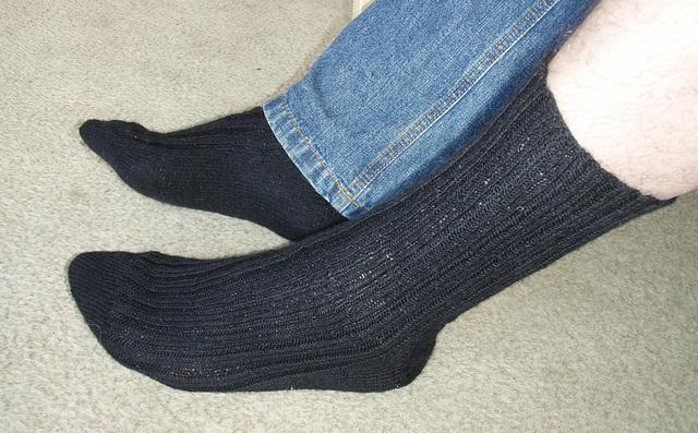 Ad's perfect socks