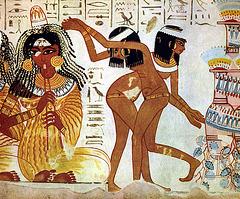 Danseuses et flûtiste (1400 avant Jésus-Christ)