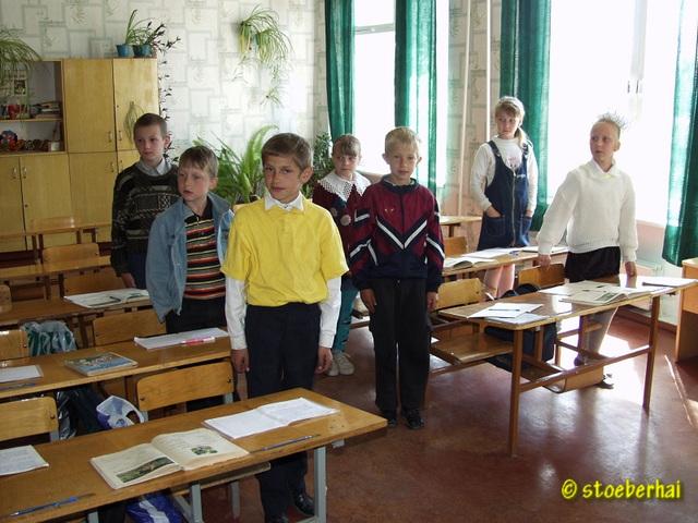 Pupils in an Ukrainian primary school