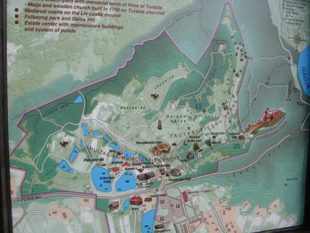 Mapo de kastelo Turaida