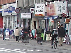 Tang Foto blurry scenery /  Un décor flou de la zone Tang Foto.  Copenhague.  20 octobre 2008