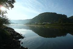 Herbstmorgen an der Elbe am 3.10.2009