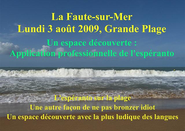 Affiche / Afiŝo La Faute-sur-Mer